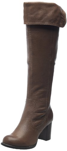 Hush Puppies Women's Romany Stone Waxy Nubuck Knee High Boots H26133977 5 UK