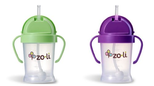 ZoLi BOT 2 Pack Sippy Cup (Green, Purple)