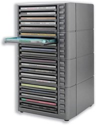 CD Storage Rack Tower, One Touch, Holds 20 CDs