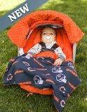 NFL Chicago Bears toda la Caboodle 5pc-Juego de bebé asiento de coche Toldo con accesorios