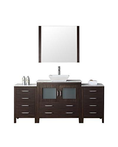 Virtu USA Dior 72 Single Bathroom Vanity Cabinet Set, Espresso