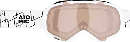 ATOMIC, Maschera da sci Revel S, Multicolore (White/Amber Grey)