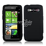 319KOqx5iyL. SL160  VMG Black Premium Soft Silicone Case + Clear LCD Screen Protector for HTC Trophy Verizon Cell Phone [In VANMOBILEGEAR Retail Packaging]