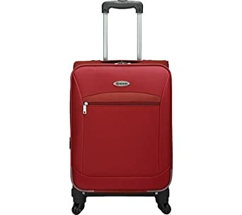 Expandable 3 Piece Spinner Luggage Set Color: Red