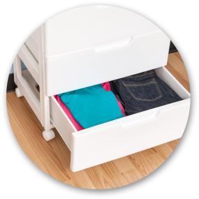 Homz 3 Drawer Medium Cart Storage Anizer Includes Set Of 4 Casters