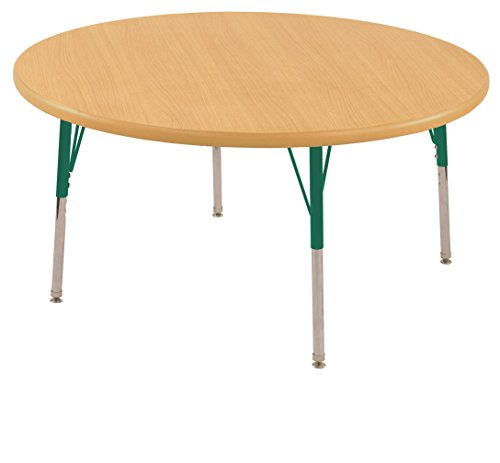 Ecr4kids 36 round activity table toddler legs w swivel glides maple top green legs general - Table glides for legs ...