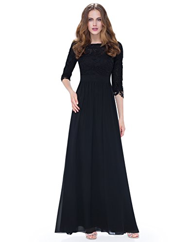 Ever Pretty Women's Lace Long Sleeve Floor Length Evening Dress 08412