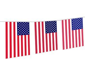 USA Flag Stars & Stripes Party Banner 20 Flags 4th of July Bunting BBQ Decoration by Superstars