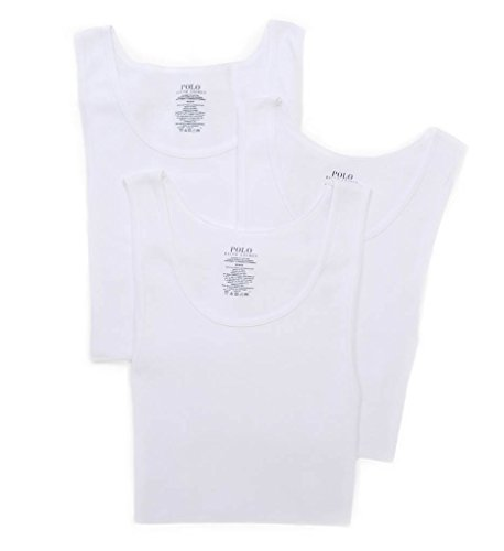Polo Ralph Lauren Classic Ribbed Tanks 3-Pack, M, White