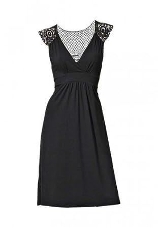 rick cardona designer kleid mit spitze schwarz neu gr 34. Black Bedroom Furniture Sets. Home Design Ideas