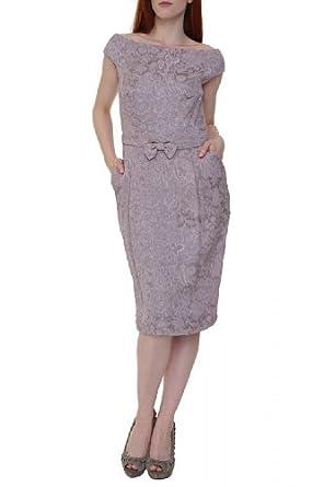 Luisa Spagnoli Cocktail Dress GARBRIO, Color: Old Rose, Size: 42 at