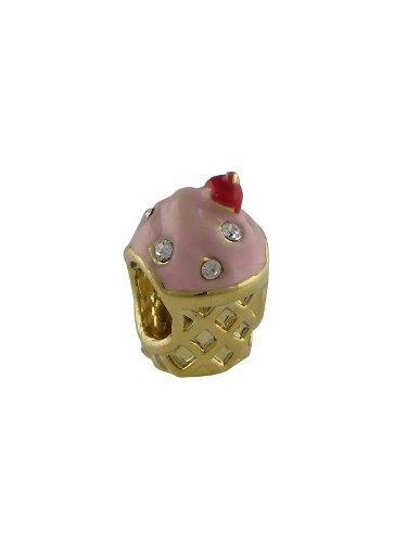 Rose Pink Gold Plated Pugster Ice Cream Cone