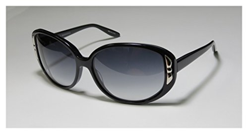 Barton Perreira Genevieve Womens/Ladies Designer Full-rim Sunglasses/Eyewear (62-15-135, Black) (Green Ranger Morph Suit)