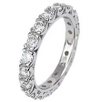 .925 Sterling Silver Eternity Ring With Round Cubic Zirconias