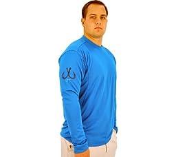 Montauk Tackle Co Men\'s Performance Long Sleeve Crew Neck Shirt,Napeaque Blue,US