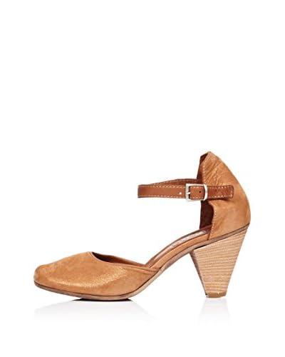 Bueno Shoes Zapatos Metalizado Marrón / Dorado