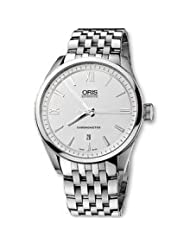 Oris 67476444051MB Watch Artix Mens - White Dial Stainless Steel Case Quartz Movement