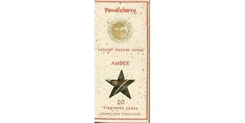 Pondicherry Natural Incense Amber Cones (20 Cones) by Cottage Industries