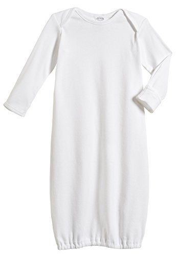 100% Cotton Baby Sleeping Bag Gown - White - NB