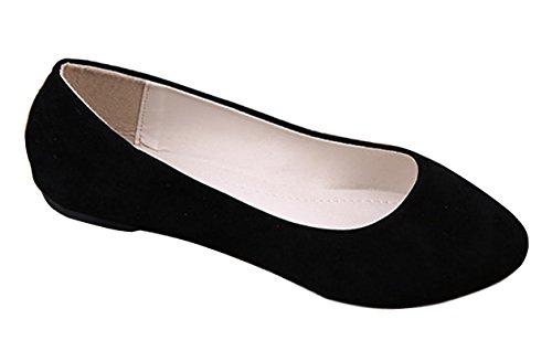 Minetom Pantofole Stile Semplice Scarpe Comode da Donne FlatsPompe ( Nero EU 40 )
