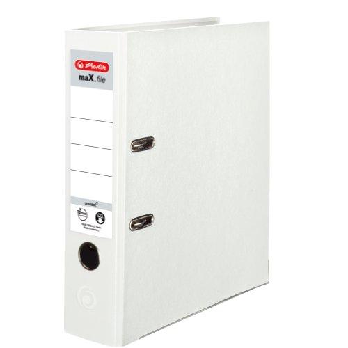 herlitz-9942681-ordner-maxfile-protect-a4-8cm-weiss-pp-kunststoffbezug-papier-hellgrbesch-5er-packun