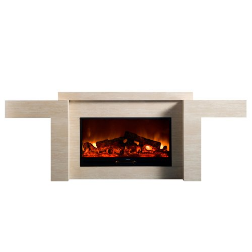 Yosemite Home Decor DF-EFP220 Entertainment Console Electric Fireplace, Black photo B005C3I63I.jpg