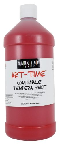 Sargent Art 22-3520 32-Ounce Art Time Washable Tempera, Red