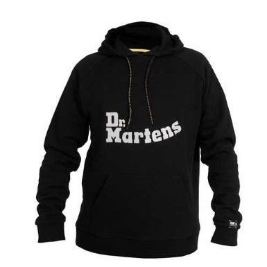 CLEARANCE: Dr Martens SWT31 Hooded Sweatshirt / Mens Tops / Workwear (XL) (BLACK)