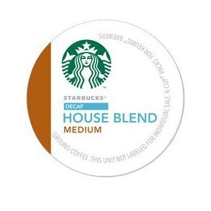 Starbucks Decaf House Blend Roast Keurig K-Cups (16 Pack)