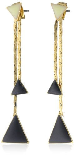 HAN CHOLO Drop Black Triangle Earrings
