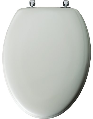 Mayfair 144CP 000 Molded Wood Toilet Seat with Chrome Hinges, STA-TITE Seat Fastening System, Elongated, White (Toilet Seat Cover Chrome compare prices)