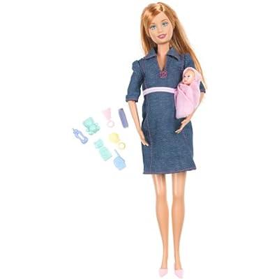 Amazon.com: Barbie's Friend Midge with Pregnant Tummy and Baby