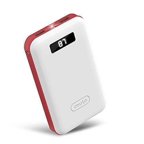 特別なデザイン for ポケモン go  iMuto 超大容量 20000mAh モバイルバッテリー 急速充電 2USB出力ポート スマートデジタルスクリーン LED ライト搭載 iPhone 6s / 6s Plus / 6 / 6 Plus / 5s / 5c / 5 / iPad / Android / Xperia / Galaxy / 各種スマホ / タブレット/ ゲーム機 / Wi-Fiルータ 等対応 カラー:ホワイト