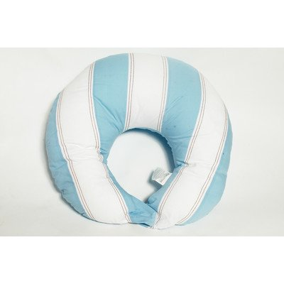 Metro Blue/White/Chocolate  Nursing Pillow