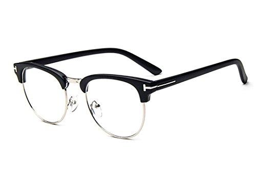 dking-unisex-vintage-inspired-classic-half-frame-horn-rimmed-clear-lens-black-sliver