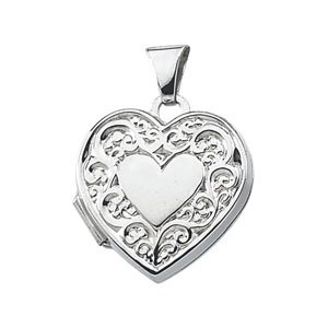 Sterling Silver 20.50X15.25 MM Heart Shaped Locket Ring Size 6