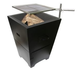 La Hacienda Venezia Charcoal BBQ Firepit Grill