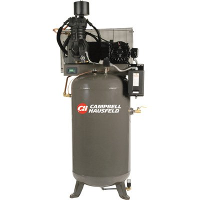 - Campbell Hausfeld Two-Stage Air Compressor - 7.5 Hp, 24.3 Cfm @ 175 Psi, 208-230/460 Volt Three Phase, Model# Ce7001