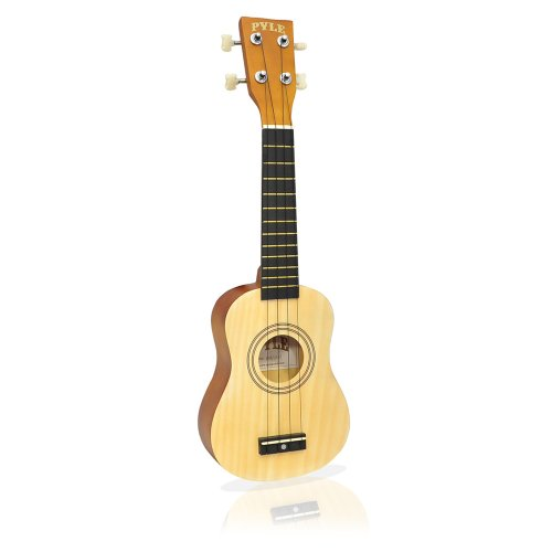 Pyle-Pro Pukt15Nt 21-Inch Soprano Ukulele Guitar Package With Bag, Picks,For Beginners And Professionals - Natural Color