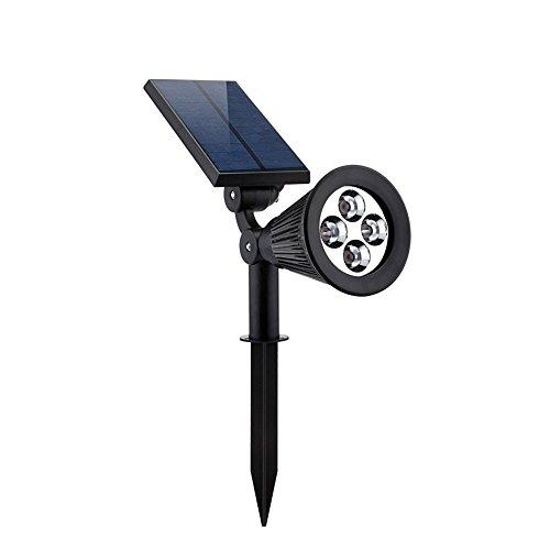 Allisandro Luce Solare a LED Automatica per Giardini o Terrazzi Luce Multifunzionale Faretto per Esterno per Illumianare il Paesaggio di Notte Impermeabile Bianca