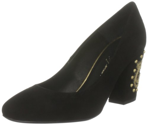 B. Feldman Women's Breche Black Sue/Gold Decorative 50013-630-001 8 UK, 41 EU