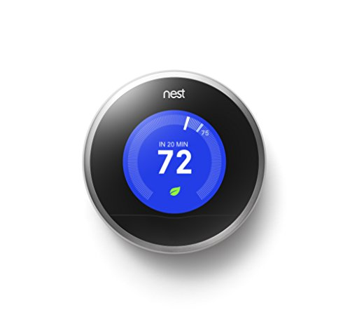 Nest Learning Thermostat, 2nd Generation, Works with Alexa (Wifi Thermostat Heat Pump compare prices)