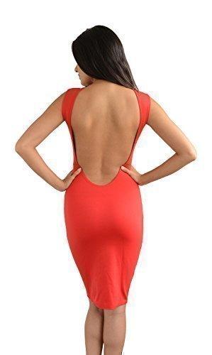 Glamzam Juliette rotes Kleid rückenfre
