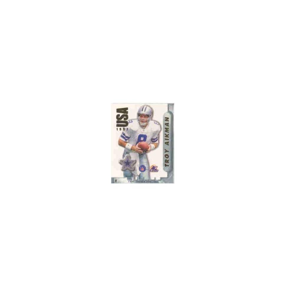 Troy Aikman Dallas Cowboys NFL Football Sticker Stamp