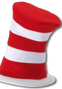 ADULT Dr. Seuss Cat in the Hat Felt Hat