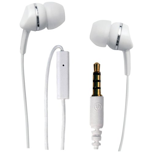 Wicked Wi1954 Metallic With Mic Earbud - White