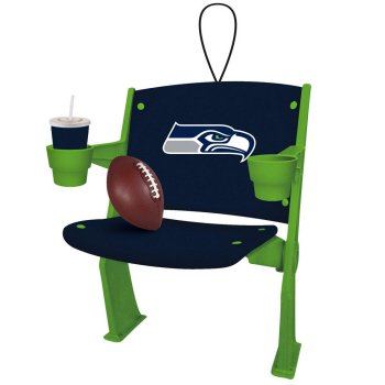 Seattle Seahawks Official NFL 4 inch x 3 inch Stadium Seat Ornament