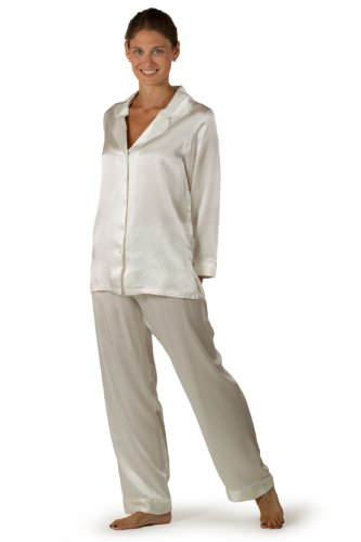 Classic Silk Pajamas for Women - Morning Dew - Multiple Colors Available - The Ultimate in Luxury Pajama Sleepwear - A Peerless Gift for Women