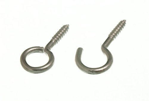 Tieback Hooks 80mm 2 x 75mm Black Fleur-de-Lys Antique Curtain Tie Back Hooks