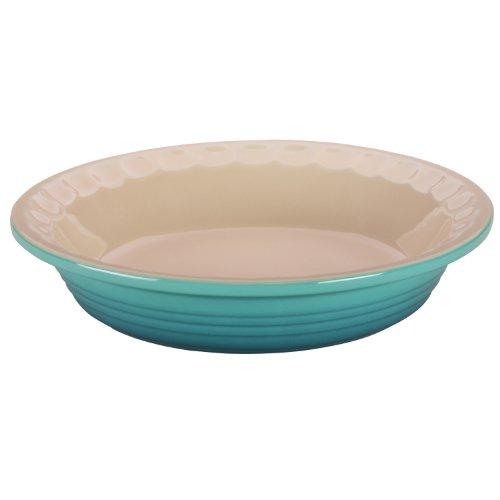 Le Creuset Heritage Caribbean Stoneware Pie Pan, 9 Inch